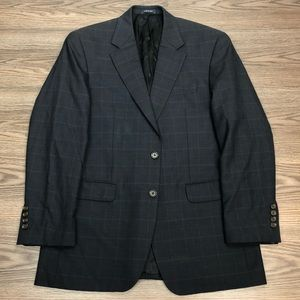 Ralph Lauren Navy w/ Blue Plaid Blazer 38R